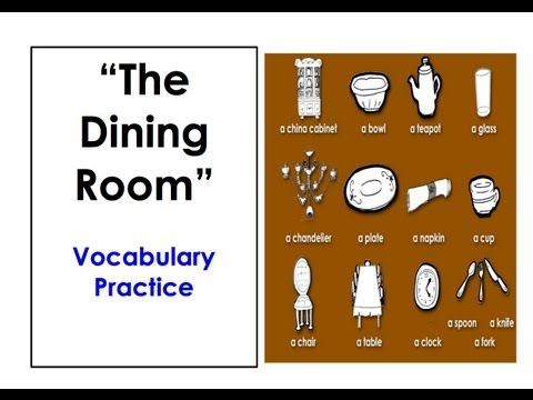 The dining for Dining room vocabulary esl