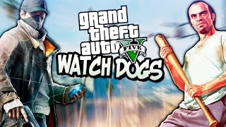 GTA 5 Моды: Watch Dogs - Ломаем игру!