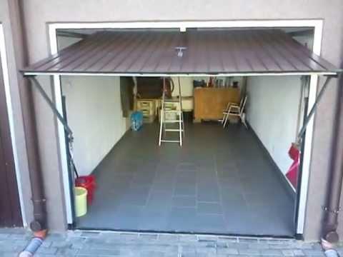 Drzwi garażowe dwuskrzydłowe