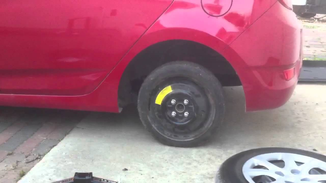 2012 Hyundai Accent Spare Tire Youtube