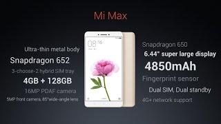 mi max launch event delhi (india) 30/06/2016 price, specs, features