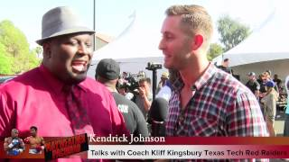 video Here's my video with Texas Tech head coach Kliff Kingsbury as we talk about Mayweather vs. Pacquiao, recruiting and what to expect from the Red Raiders next season.