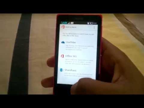 Microsoft Office for Android on Nokia X