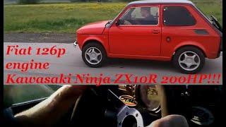 Maluch Fiat 126p swap Kawasaki Ninja ZX10R 200KM