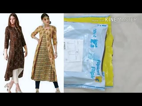 Unboxing long kurta with jacket from Flipkart | new design kurti ke design | a line kurti design