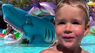 Good Baby Vlad ToyBoy Goes To Vacation Hotel Aquapark With Water Slides