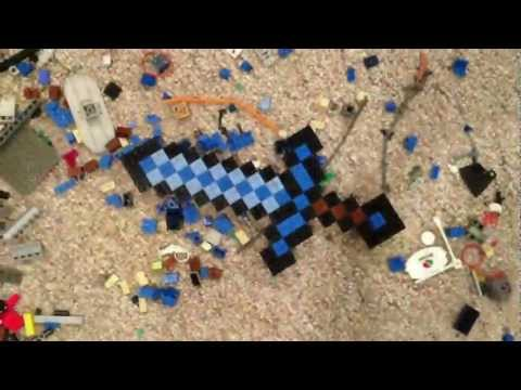 Lego Minecraft Diamond Sword