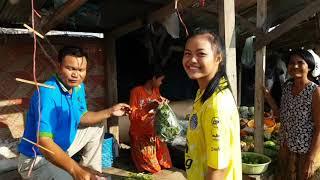 VeasnaTV # 12 Cambodia Trip Travel A Round Cambodian Market Daily News New