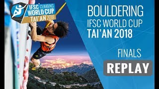 IFSC Climbing World Cup Tai'an 2018 - Bouldering - Finals - Men/Women