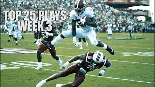 Top 25 Plays From Week 3 Of The 2019 College Football Season ᴴᴰ