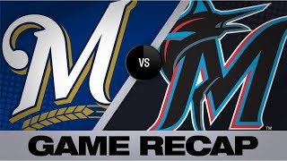 Austin hits sac fly in 9th to lead Brewers | Brewers-Marlins Game Highlights 9/10/19