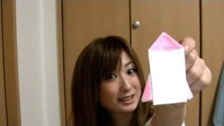 ロケット型手紙の折り方 How To ... : 折り紙 箱 作り方 長方形 : 折り紙