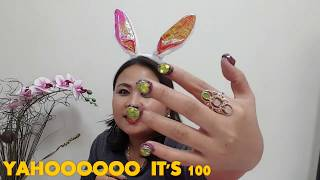 100 LAYERS CHALLENGE (nail polish) || so cool watch until the end|| stress reliever mga friends!#32