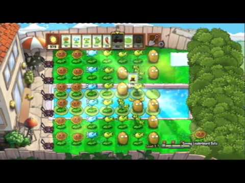 Plants VS Zombies - PS3 - 1st Playthrough - Level 3 - Part 2