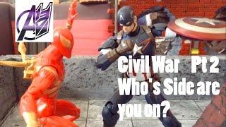 Captain America Civil War [Stop Motion Film] Pt2 Spiderman vs Captain America
