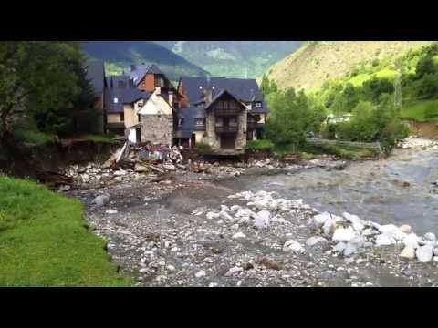 Val d'Aran - Resultado de los desbordamientos del Garona a su paso por Casarilh