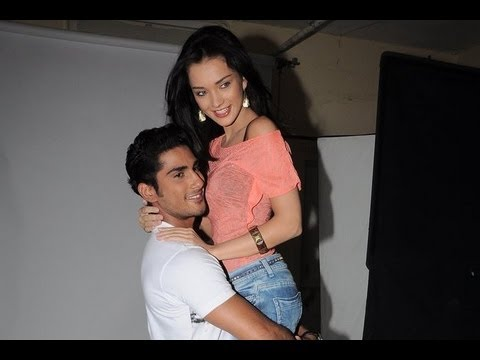 Prateik and Amy Jackson at the photo shoot for