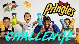 PRINGLES CHALLENGE! Potato Chip Flavors Tasting Contest Skippy Kids TV