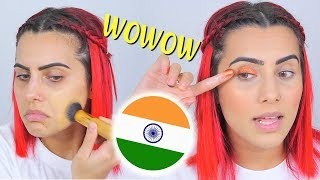 FULL FACE USING MAKEUP FROM INDIA! | BodmonZaid