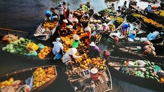 Mekong Delta, Floating markets in Vietnam