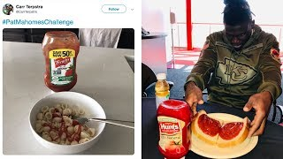 Mahomes Challenge Goes Viral After QB Admits He Puts KETCHUP On His Steak