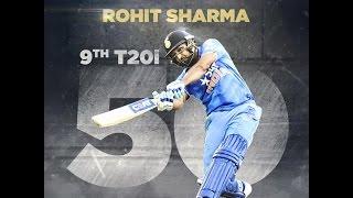 Rohit Sharma 9th T20i fifty vs AUS