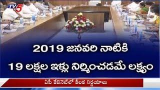 అర్హులకు పక్కాఇళ్లు..ఏపీ కేబినెట్ కీలక నిర్ణయం..! | TDP Cabinet Meeting In Amaravati