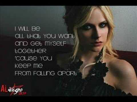I Will Be - Avril Lavigne (lyrics) video