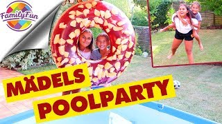 MÄDELS POOLPARTY mit RIESEN DONUTS - Family Fun