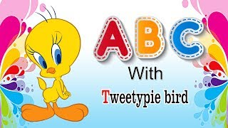 ABCD Rhymes with Tweety Kindergarten songs abcdefghijklmnopqrstuvwxyz