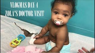 Baby Girl 6 Month Doctor Visit   Vlogmas Day 4