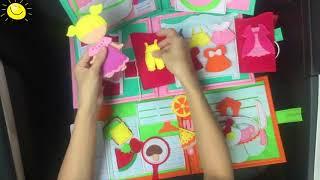 Hướng Dẫn Chơi Girl Wonder Box   Touch World Together   Wonder Box   Handmade   Sách Vải Khasa