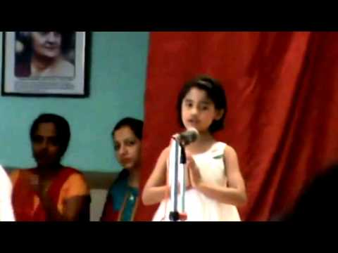 Ritu - De Di Hame Azadi - Sung In School On 14.08.2014 video