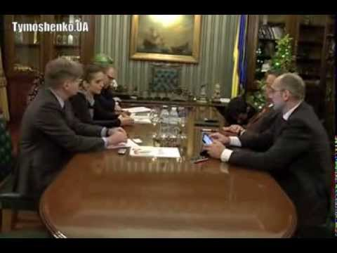 Eugenia Tymoshenko meets with EP vice president Gianni Pitella