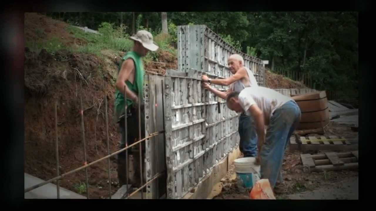 Concrete form liners youtube - Decorative concrete wall forms ...
