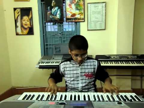 telugu new song nath nath from badrinath on keyboard by p.v....
