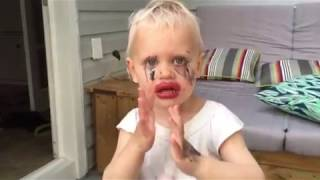 Daughter Tries Mommy's Makeup Without Permission