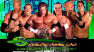 WWE Summerslam 2003 Match Card Elimination Chamber Match For The World Heavyweight Championship