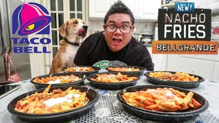 NEW TACO BELL NACHO FRIES BELLGRANDE FOOD CHALLENGE