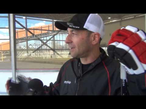 Тверские хоккеисты на тренировке Бесо Цинцадзе