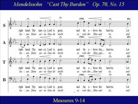 Феликс Мендельсон - Cast thy burden upon the Lord (No. 15 from
