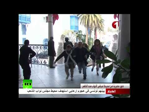RAW: Tourists run for cover in Tunis Bardo Museum attack
