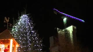 Christmas lights on 103 Colmore Row tower crane
