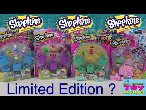 Shopkins Limited Edition FOUND Season 1 2 3 4 Unboxing Opening | PSToyReviews