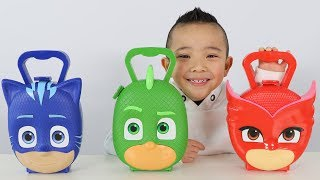 PJ MASKS SURPRISE TOYS Opening Fun With Catboy Gekko Owelette And Ckn Toys