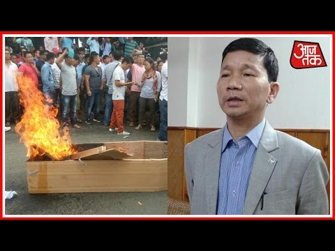 Supporters Of Kalikho Pul Stage Protest And Demand Resignation Of Prema Khandu