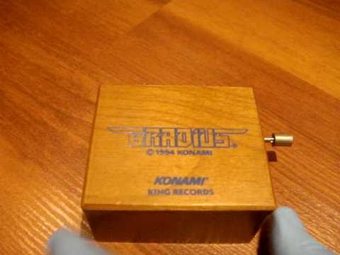 Gradius Music Box by KONAMI 1994 Expensive Rare Limited Edition