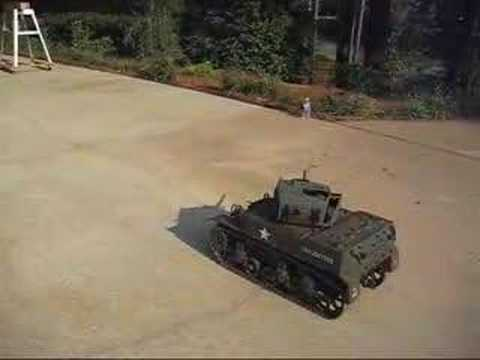 RC 1:6 M5 Stuart Tank with Paintball gun