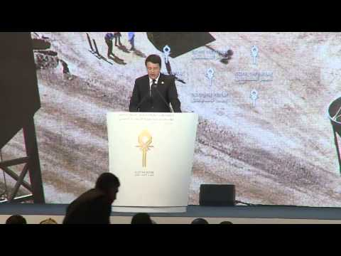 Matteo Renzi in Egypt Economic Development Conference