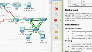 8.2.4.12 Packet Tracer - Troubleshooting Enterprise Networks 1